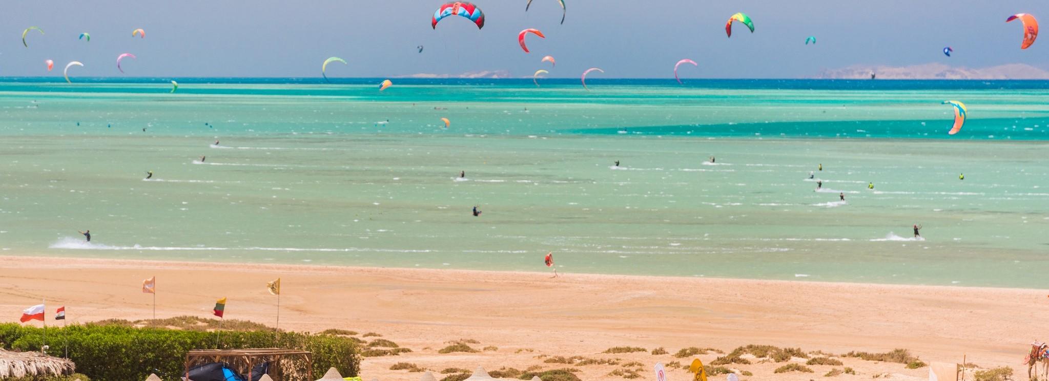 Kitesurfing spot  EL GOUNA